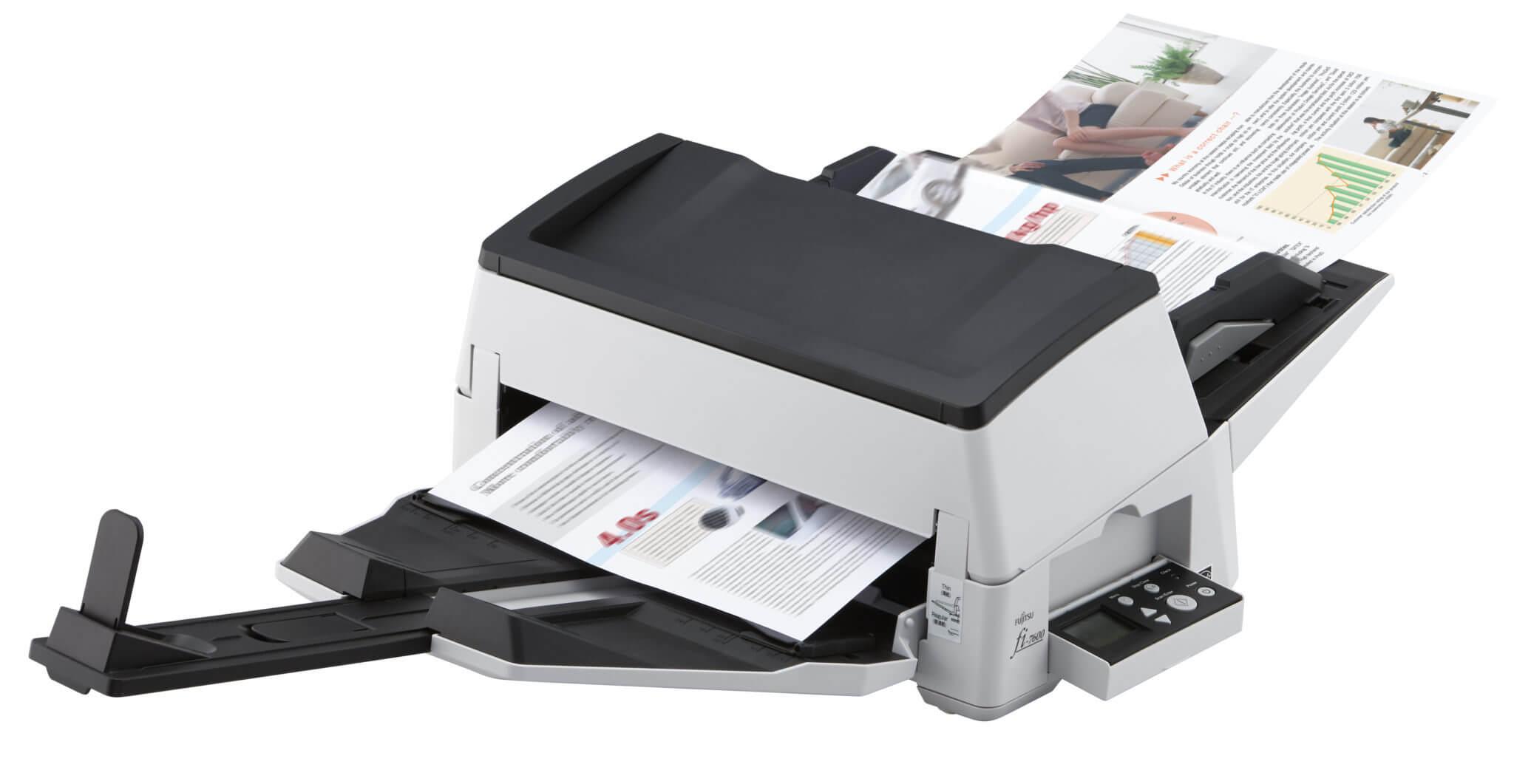 Foto Produto Scanner Fujitsu Fi-7600, 100ppm, Duplex (Frente e Verso)