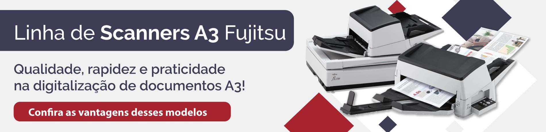 Banner linha de Scanners A3 Fujitsu